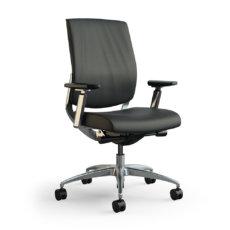 focus executive highback chair volo black 3qfront